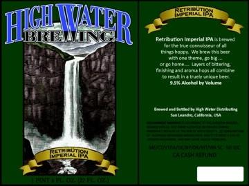High Water  Retribütion Imperial IPA